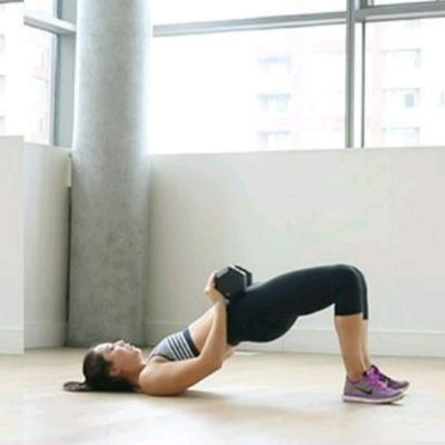 Weighted Glute Thrust