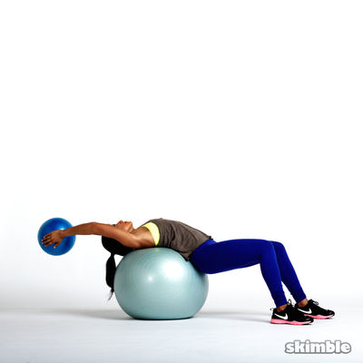 Ball Pullover with Side Rotation (+ Dumbbell Or Plate)