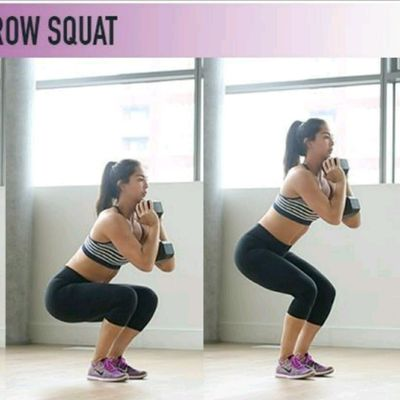 DB Narrow Squat Pulses