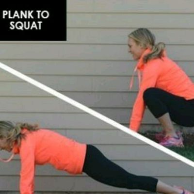 Plank to Squat