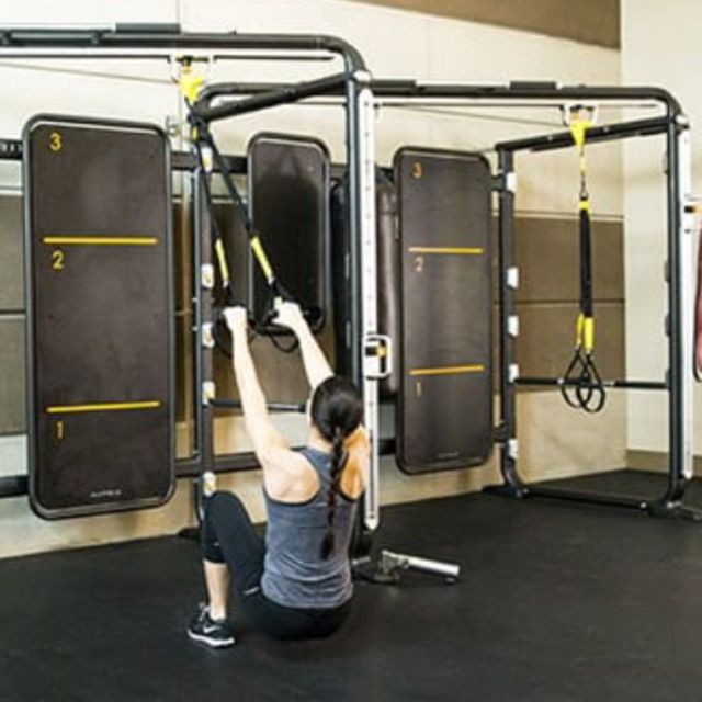 Trx Squat With High Row Exercise How To Workout Trainer By Skimble