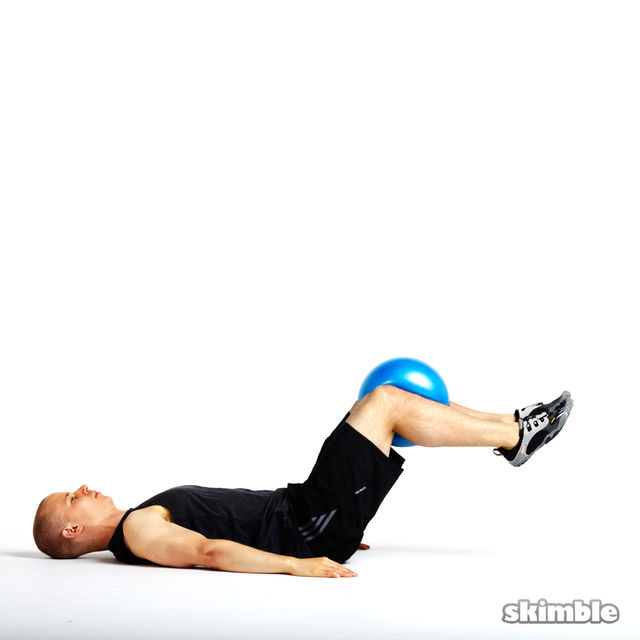 How to do: Reverse Crunch on Exercise Ball - Step 2