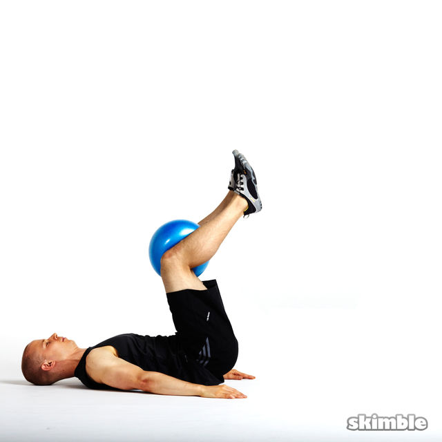 How to do: Reverse Crunch on Exercise Ball - Step 3