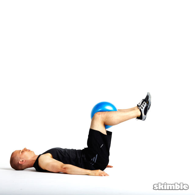 How to do: Reverse Crunch on Exercise Ball - Step 4