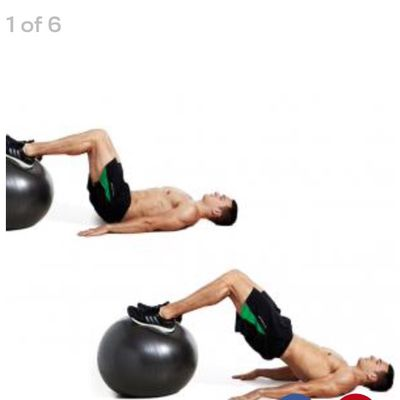 Feet On Ball Hip Thrust