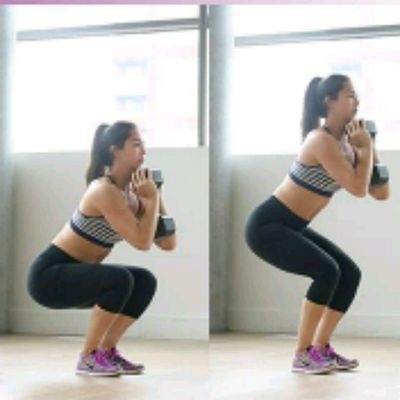 DB Pulse Narrow Squat