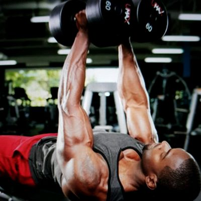 HOLD & SQUEEZE DUMBBELLS TOGETHER !