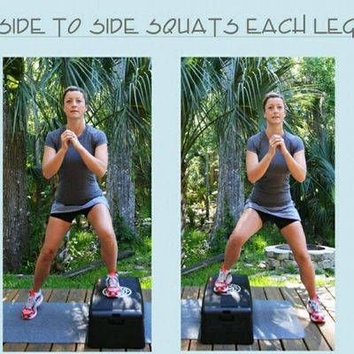 Side Squats On Step