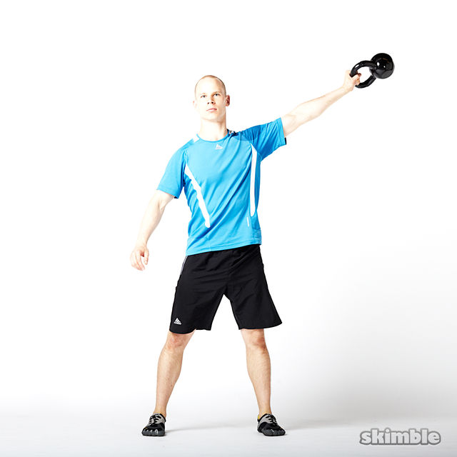 How to do: Left Lateral Kettlebell Swings - Step 1