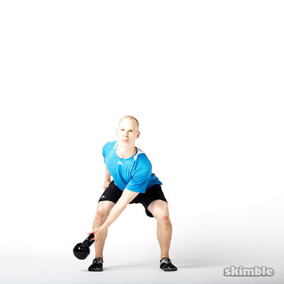 Left Lateral Kettlebell Swings