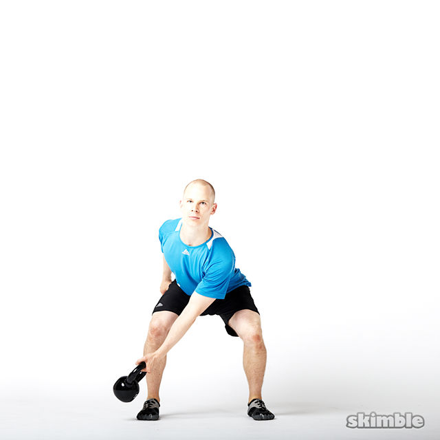 How to do: Left Lateral Kettlebell Swings - Step 2