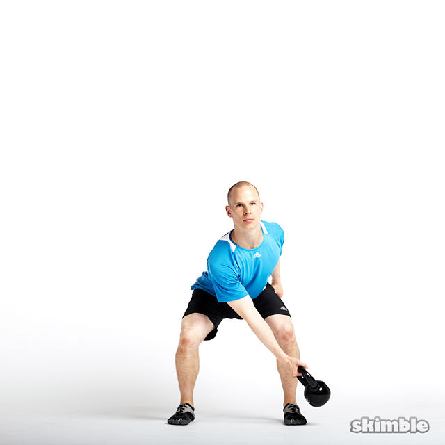How to do: Right Lateral Kettlebell Swings - Step 2
