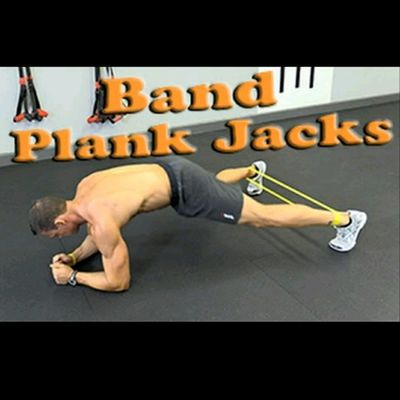 Plank Jacks with Band
