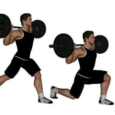 Barbell Split Squat (Right Leg)