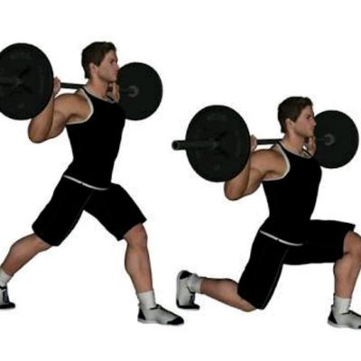 Barbell Split Squat (Left Leg)