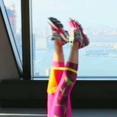 Lie Down, Place Band Below Knees In Scissor Position, RIGHT Leg Forward, Don't Move Legs