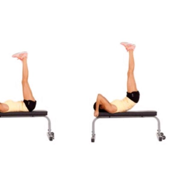 Awesome Leg Raise With Hip Raise On Bench Exercise How To Gmtry Best Dining Table And Chair Ideas Images Gmtryco