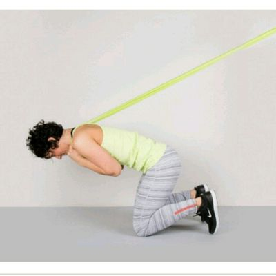 Reverse Crunch with resistance bands