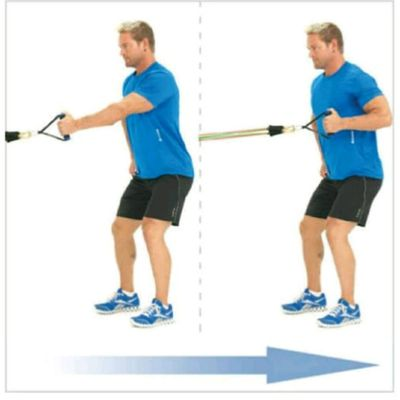 Single Arm Rowing with resistance band