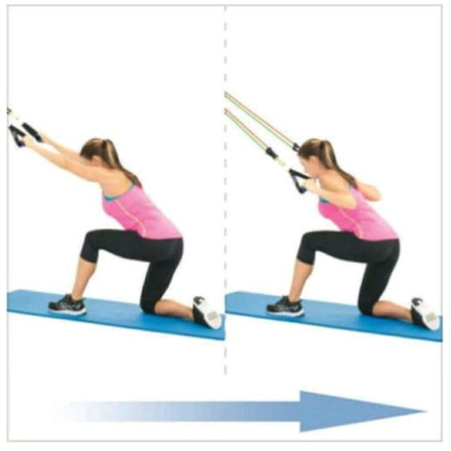 How to do: Back Traction with resistance bands - Step 1