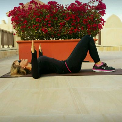 Lie Down On Back, Knees Bent, Arms In 90 Degree Angle. Now Pull Down And SQUEEZE Shoulder Blades With Elbows On Ground, Hold For Few Breaths, Release, Repeat!