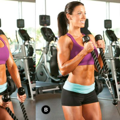 Cable Rope Bicep Hammer Curls