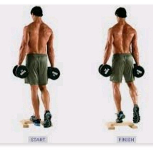 Standing One Leg Dumbbell Calf Rise Exercise How To Workout