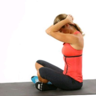 Seated Clasping Neck Stretch