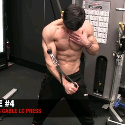 Cable Lower Chest Press
