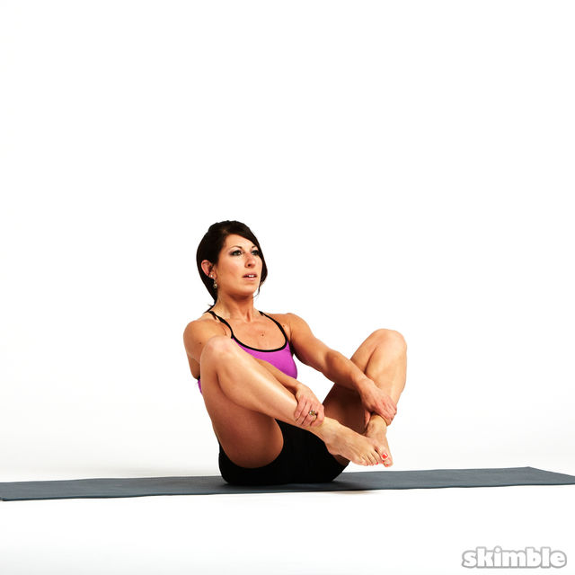 How to do: Rolling Butterfly with Leg Extension - Step 9
