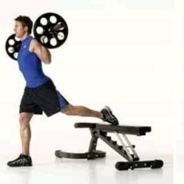 How to do: Barbell Split Squat With Bench - Step 1