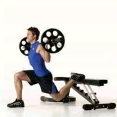 Barbell Split Squat With Bench