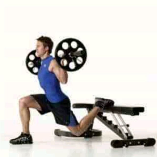 How to do: Barbell Split Squat With Bench - Step 2