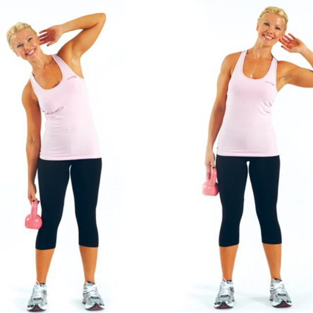 Dumbbell Oblique Crunches Exercise Howto WorkoutOblique Exercises With Weights