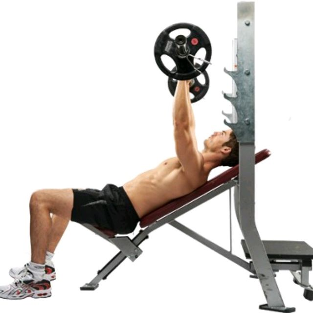Bench 1rm: Barbell Incline Bench Press (R)