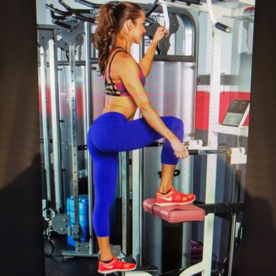 Glute Pressdown On Assisted Pull Up Machine Right