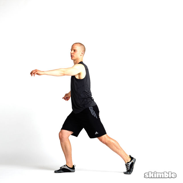 How to do: Rotating Lunges - Step 6
