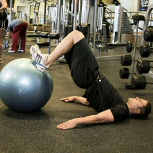 How to do: Ball Leg Curl - Step 1