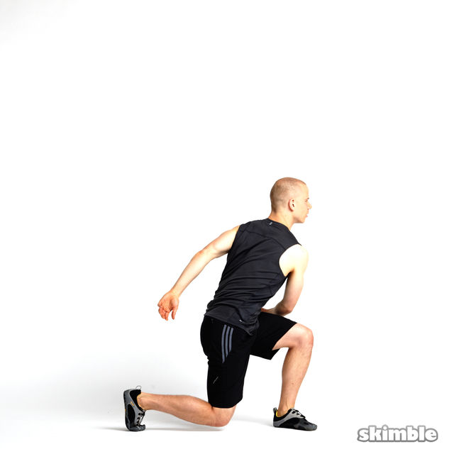 How to do: Rotating Lunges - Step 3