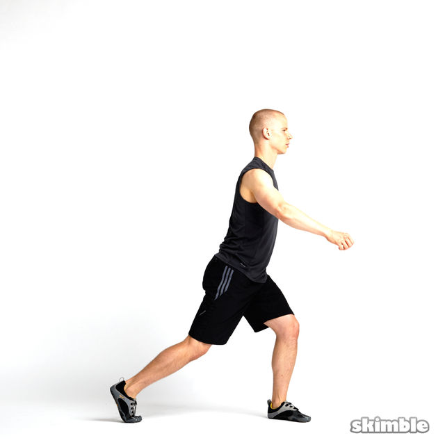 How to do: Rotating Lunges - Step 2