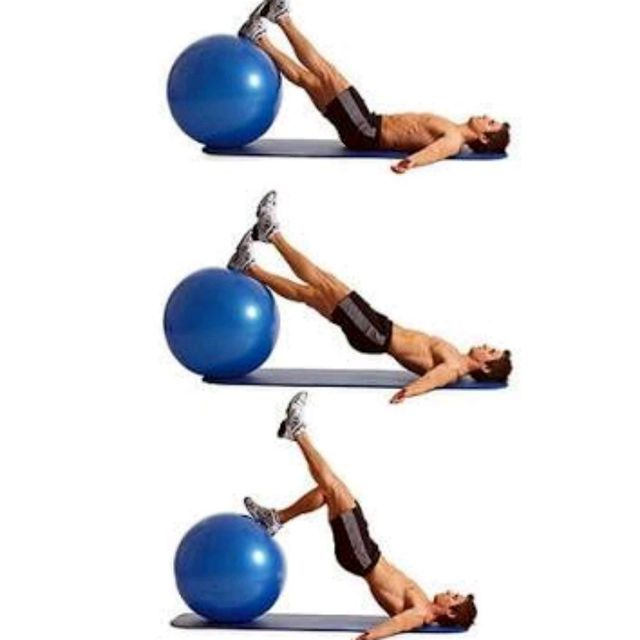 Stability Ball Hamstring Curl T Nation: Left Single Leg Hip Thrust To Curl