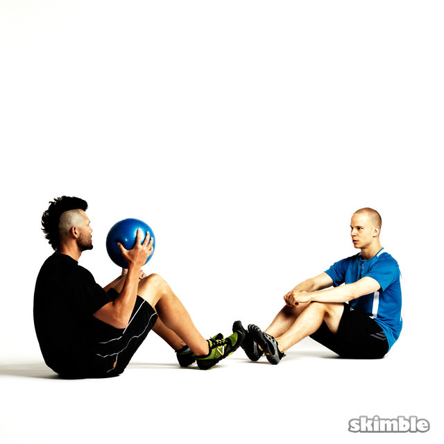 How to do: Seated Ball Toss with Partner - Step 1