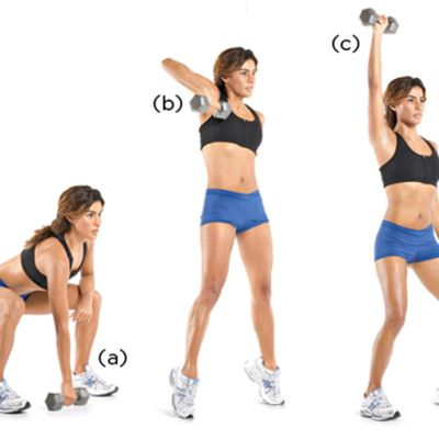 Dumbbell Snatch & Press