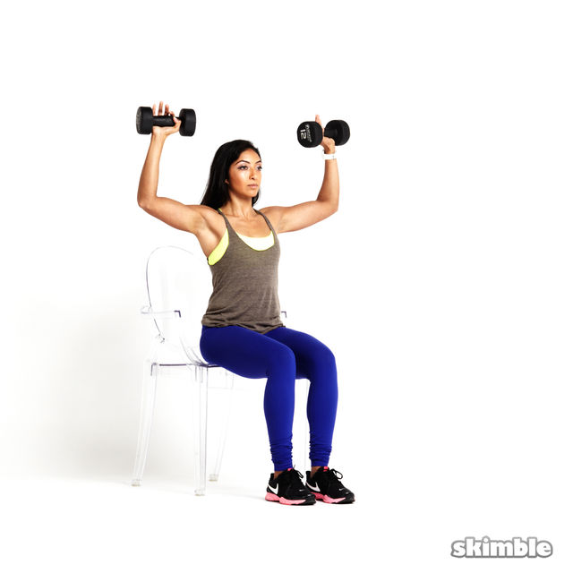 How to do: Seated Dumbbell Press - Step 2