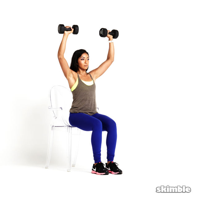 How to do: Seated Dumbbell Press - Step 3