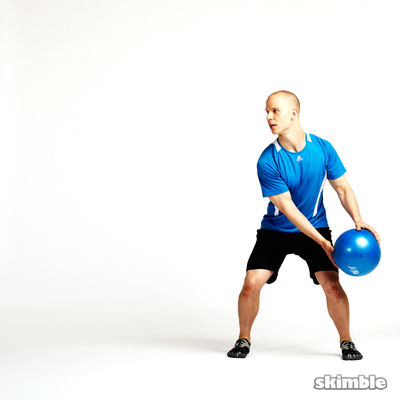 Side Squat Ball Toss