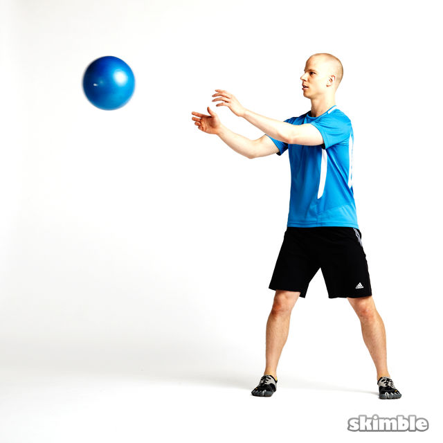 How to do: Side Squat Ball Toss - Step 1
