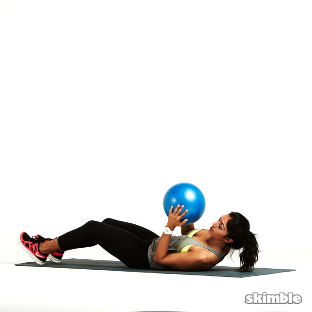 How to do: Sit Ups with Ball Zig Zags - Step 2