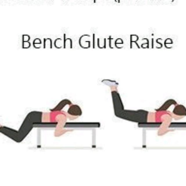 Bench Glute Raise Exercise How To Workout Trainer By Skimble