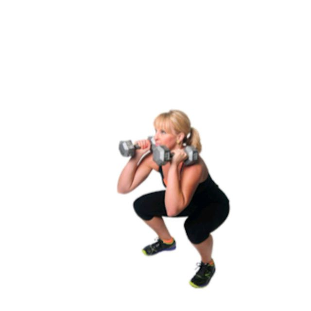How to do: Double Dumbbell front Squat - Step 1